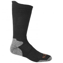 "Носки тактические ""5.11 Tactical Merino Wool Cold Weather Crew Sock"", Чёрный (Black)"