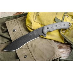 "Нож ""TOPS Knives Dart Fixed Blade Knife 5160 Steel"", Black"