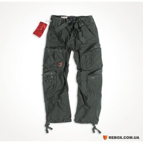"Брюки ""SURPLUS AIRBORNE VINTAGE TROUSERS"", Washed black"