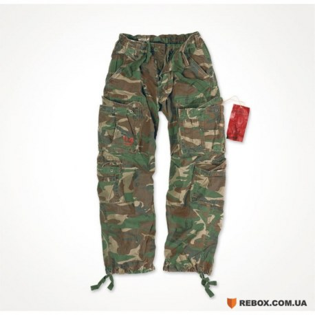 "Брюки ""SURPLUS AIRBORNE VINTAGE TROUSERS"", Washed woodland"