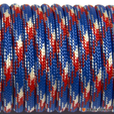 Паракорд 550 red blue white camo #023