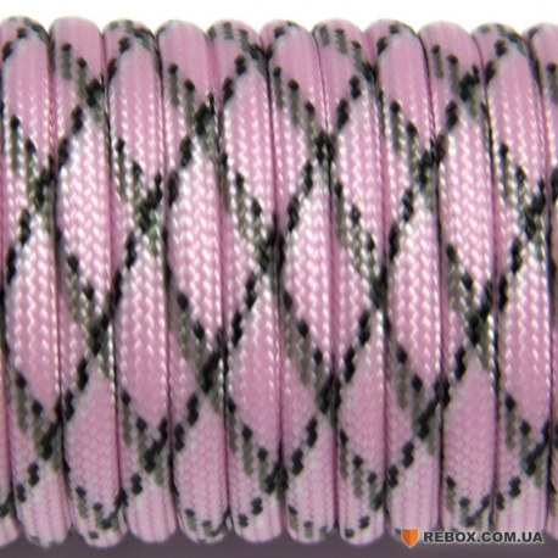 Паракорд 550 pink camo #034