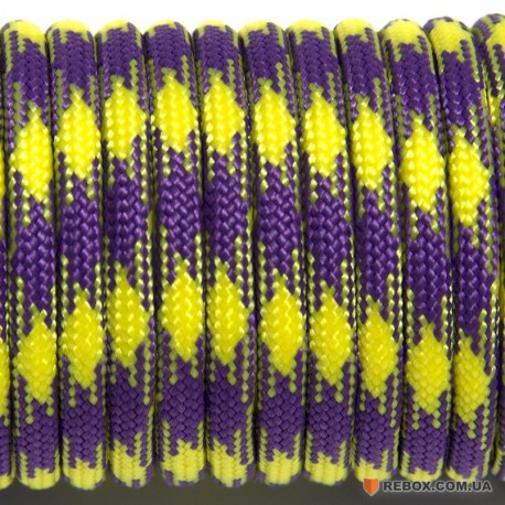 Паракорд 550 yellow purple #041