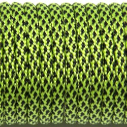 Паракорд 550 neon green diamonds #260