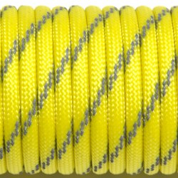 Паракорд 550 светоотражающий с 3-мя светонитями yellow #rpx09