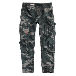 "Брюки ""SURPLUS AIRBORNE TROUSERS SLIMMY"", Black camo"