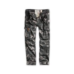 "Брюки ""SURPLUS PREMIUM TROUSERS SLIMMY"", Black camo"