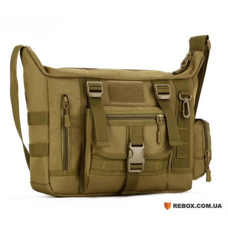 Messenger bag тактический D5-1021 , Wolf brown