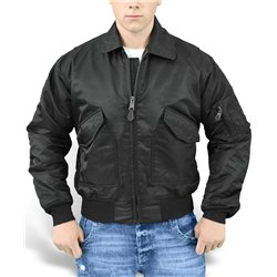 "Куртка лётная демисезонная ""SURPLUS CWU JACKET"", Чёрный (Black)"